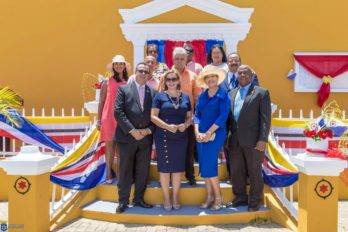 Prime Minister of Aruba Evelyn Wever-Croes at Bonaire Day Celebration